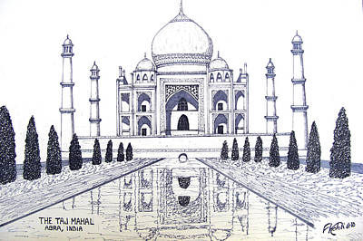 Drawing - Taj Mahal by Frederic Kohli