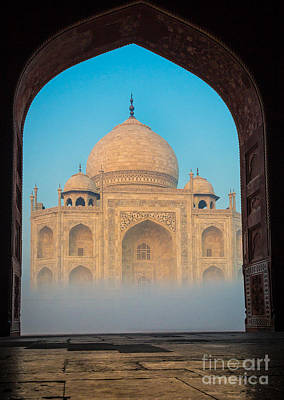 Arches Memorial Photograph - Taj Mahal From Jawab by Inge Johnsson