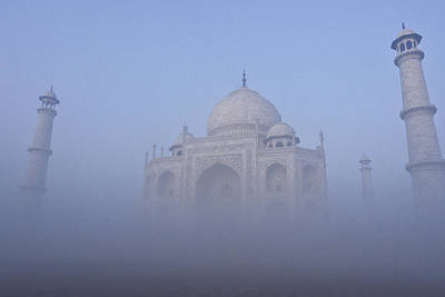 Photograph - Taj Mahal In The Mist by Michele Burgess