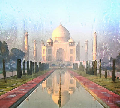Photograph - Taj Mahal In The Rain by Georgiana Romanovna