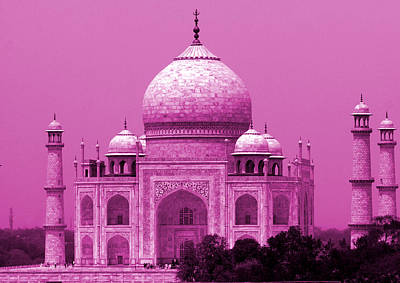 Photograph - Pink Taj Mahal, Agra, India by Aidan Moran