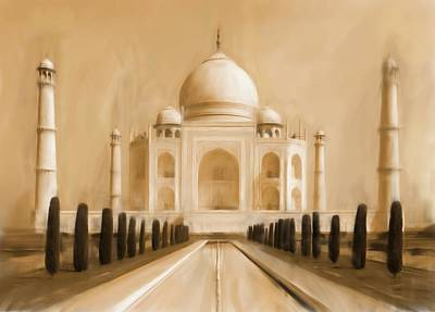 Taj Mahal India Art Print by Michael Kuelbel