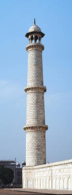 Photograph - Taj Mahal Minaret Detail by C H Apperson