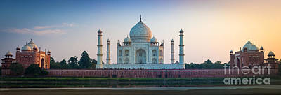 Photograph - Taj Mahal Panorama by Inge Johnsson