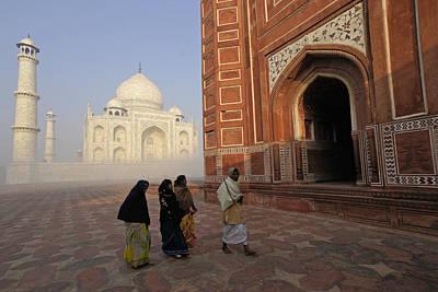Photograph - Taj Mahal Pilgrims by Michele Burgess