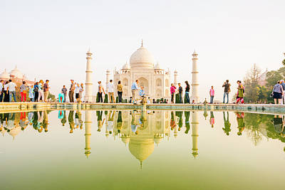 Indian Culture Photograph - Taj Mahal Reflection by Urbancow