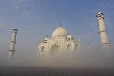 Photograph - Taj Mahal Rising Above Fog by Michele Burgess