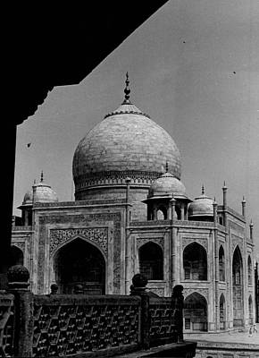 White Marble Photograph - Taj Mahal Side View by Retro Images Archive