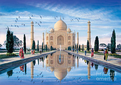 Mahal Digital Art - Taj Mahal by Steve Crisp