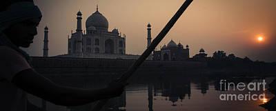 Photograph - Taj Mahal Sunset by Neville Bulsara