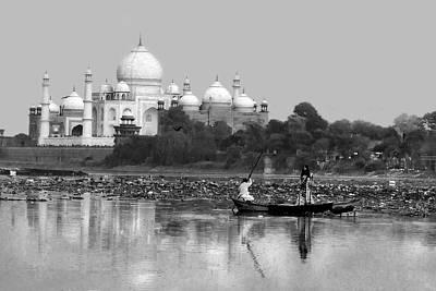 Tajmahal Photograph - Taj Seen From Yamna River by Mukesh Srivastava