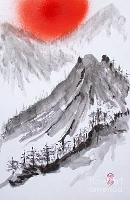 Painting - Takahara Yama - Hinode by Roberto Prusso