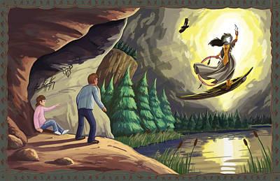 Condor Digital Art - Takaya Descends by Jaymes Thompson