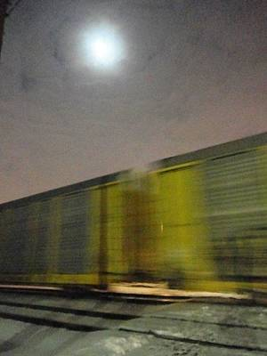 Of Fast Moving Speeding Traveling Vehicles Trains At Night Photograph - Take A Fast Train by Guy Ricketts
