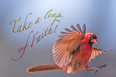 Take A Leap Of Faith Art Print by Bonnie Barry