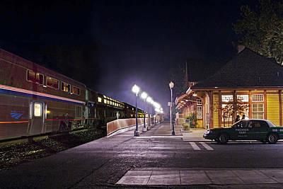 Take A Ride On Amtrak Art Print