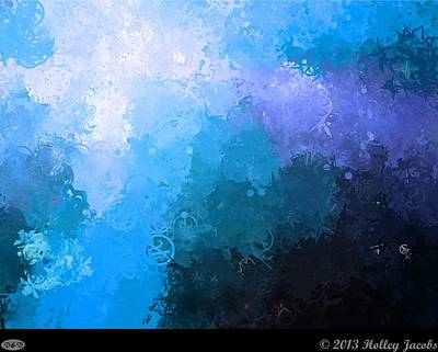 Digital Art - Take Back The Night Blue by Holley Jacobs