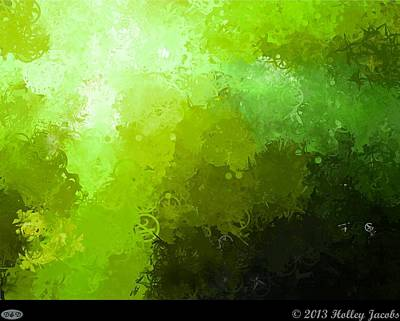 Digital Art - Take Back The Night Green by Holley Jacobs
