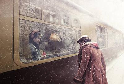 Snowfall Wall Art - Photograph - Take Care by Stanislav Hricko