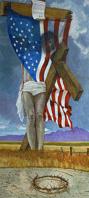 Ayn Rand Wall Art - Painting - Take Down That Cross by Robert Tracy