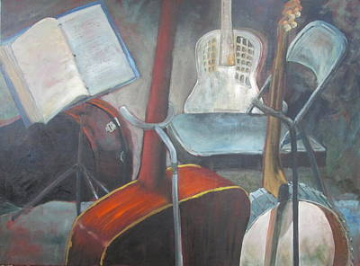 Empty Chairs Painting - Take Five by Susan Richardson