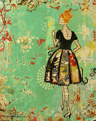 Sixties Mixed Media - Take Me Away by Janelle Nichol