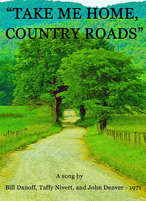 Photograph - Take Me Home Country Roads by David Lee Thompson