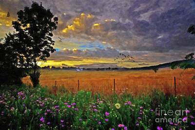 Country Road Digital Art - Take Me Home by Lianne Schneider