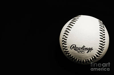 Photograph - Take Me Out To The Ball Game - Baseball Season - Sports - B W by Andee Design