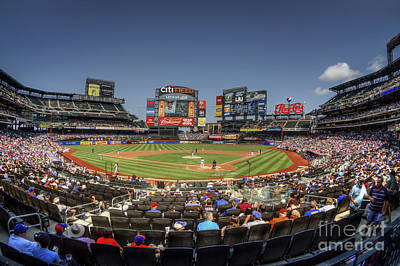 New York Mets Stadium Photograph - Take Me Out To The Ballgame by Evelina Kremsdorf