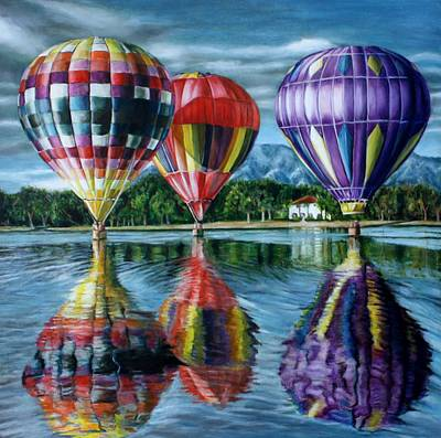 Painting - Take Me There-ballons by Maxx Phoenixx