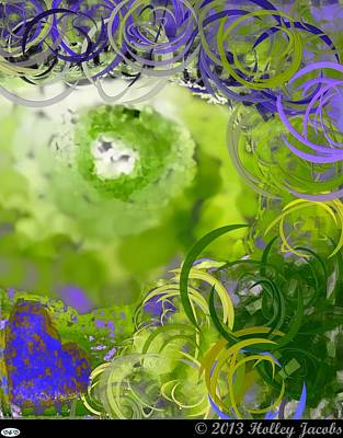 Digital Art - Take My Breath Away Green by Holley Jacobs