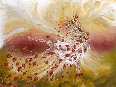 Dance Ballet Roses Painting - Take My Breath Away by Karina Llergo