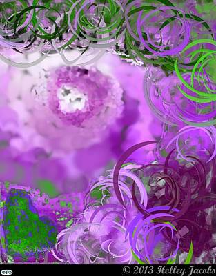 Digital Art - Take My Breath Away Purple by Holley Jacobs