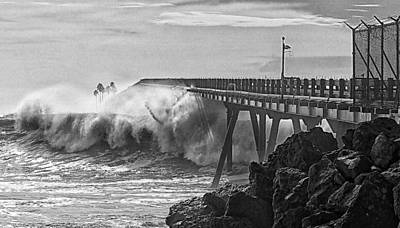 Rincon Photograph - Take No Prisoners by Ron Regalado