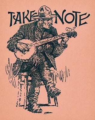 Take Note Print by Dale Michels