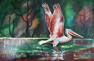 Painting - Take Off by Ragunath Venkatraman