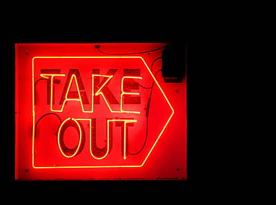 Take Out Art Print by Greg Simmons