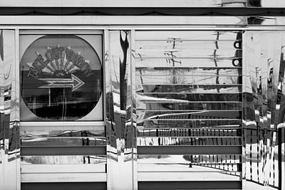Photograph - Take Out Window Bw by Mary Bedy