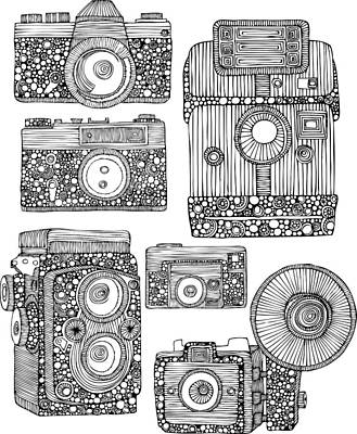 Vintage Camera Drawing - Take Some Pictures by Valentina Harper