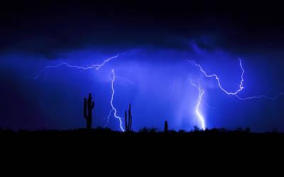 Lightning Bolt Photograph - Take The Bull By The Horns  by Saija  Lehtonen