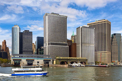 Photograph - Take The Ferry - Manhattan Skyline by Mark E Tisdale
