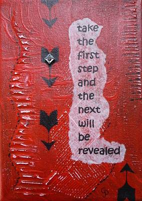 Take The First Step Art Print by Gillian Pearce
