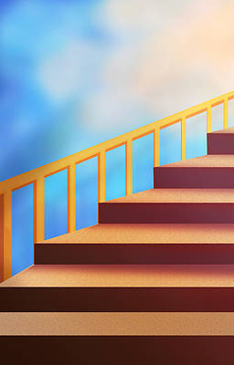 Digital Art - Take The First Step by Ginny Schmidt