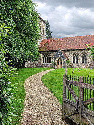 St Margaret Photograph - Take The Right Path - Church by Gill Billington