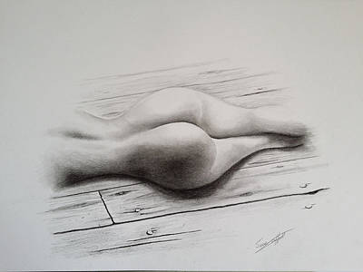 Bdsm Drawing - Take The Rough With The Smooth by Sean Afford