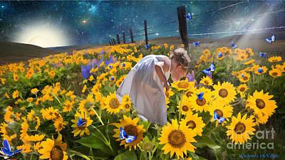 Sonflowers Digital Art - Take Time by Dolores Develde