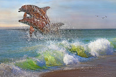 Dolphins Digital Art - Taken For Granted by Betsy Knapp