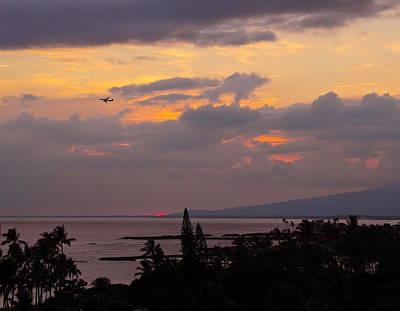 Photograph - Takeoff Into Waikiki Sunset by Michele Myers
