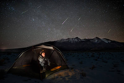 Copyright 2013 By Mike Berenson Photograph - Taking Cover From The Quadrantids Meteor Shower by Mike Berenson